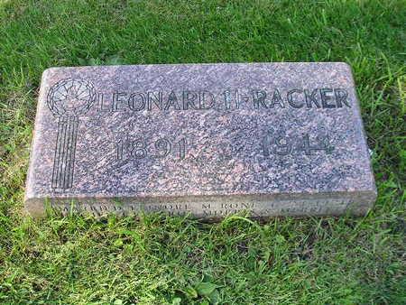 RACKER, LEONARD H - Bremer County, Iowa | LEONARD H RACKER