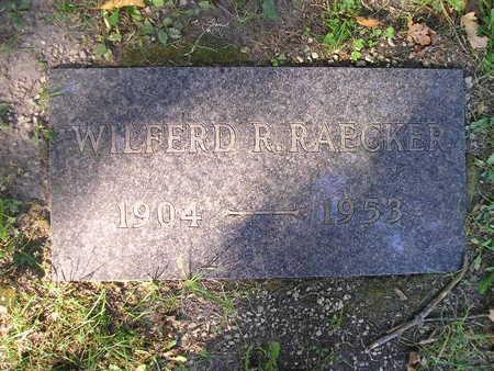 RAECKER, WILFERD R - Bremer County, Iowa   WILFERD R RAECKER