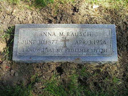 RAUSCH, ANNA M - Bremer County, Iowa   ANNA M RAUSCH