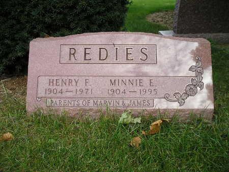 REDIES, MINNIE F - Bremer County, Iowa | MINNIE F REDIES