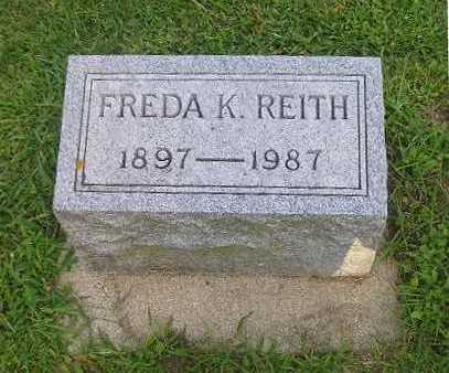 REITH, FREDA - Bremer County, Iowa | FREDA REITH