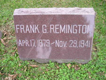 REMINGTON, FRANK G - Bremer County, Iowa | FRANK G REMINGTON