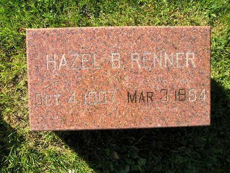 RENNER, HAZEL B - Bremer County, Iowa | HAZEL B RENNER