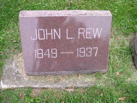 REW, JOHN L - Bremer County, Iowa | JOHN L REW