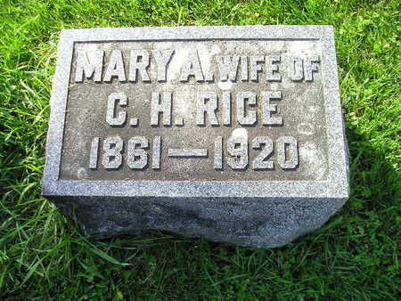 RICE, MARY A - Bremer County, Iowa   MARY A RICE