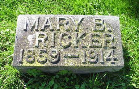 RICKER, MARY B - Bremer County, Iowa | MARY B RICKER