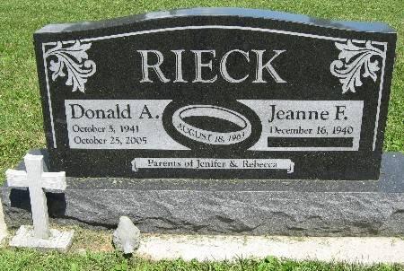 RIECK, DONALD A. - Bremer County, Iowa   DONALD A. RIECK