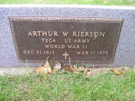 RIERSON, ARTHUR W - Bremer County, Iowa | ARTHUR W RIERSON