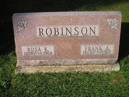 ROBINSON, ROSA K - Bremer County, Iowa | ROSA K ROBINSON