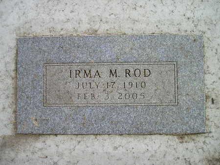 ROD, IRMA M - Bremer County, Iowa   IRMA M ROD