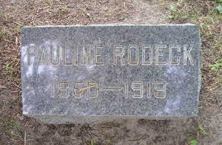 RODECK, PAULINE - Bremer County, Iowa   PAULINE RODECK