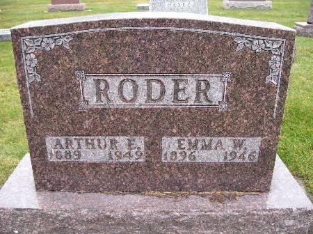 RODER, ARTHUR E - Bremer County, Iowa | ARTHUR E RODER