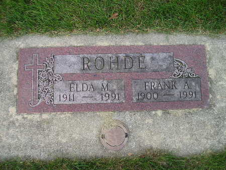 ROHDE, ELDA M - Bremer County, Iowa | ELDA M ROHDE