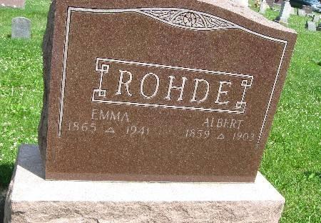 ROHDE, EMMA - Bremer County, Iowa   EMMA ROHDE