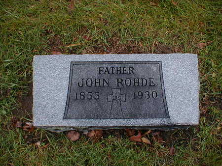 ROHDE, JOHN - Bremer County, Iowa   JOHN ROHDE