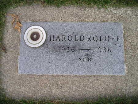ROLOFF, HAROLD - Bremer County, Iowa | HAROLD ROLOFF