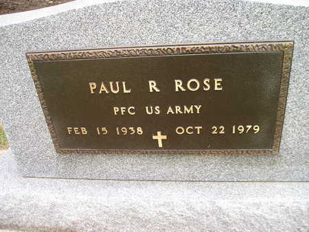 ROSE, PAUL R - Bremer County, Iowa | PAUL R ROSE