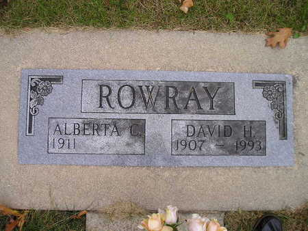 ROWRAY, DAVID H - Bremer County, Iowa | DAVID H ROWRAY