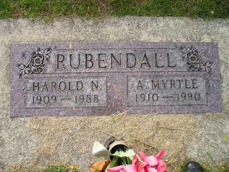 RUBENDALL, HAROLD N - Bremer County, Iowa | HAROLD N RUBENDALL