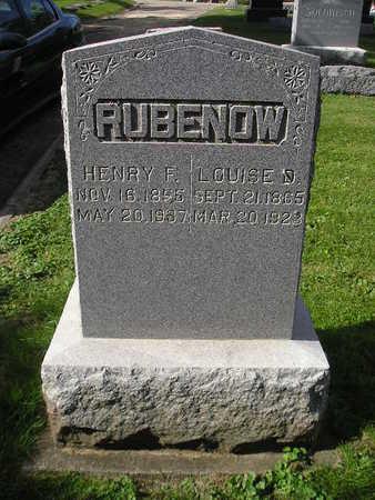 RUBENOW, HENRY F - Bremer County, Iowa | HENRY F RUBENOW