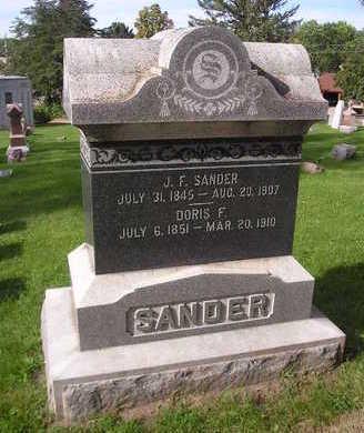 SANDER, J.  F. - Bremer County, Iowa | J.  F. SANDER