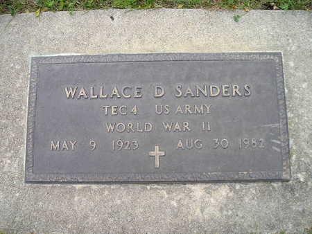 SANDERS, WALLACE D - Bremer County, Iowa   WALLACE D SANDERS
