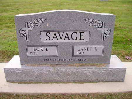 SAVAGE, JACK L - Bremer County, Iowa | JACK L SAVAGE
