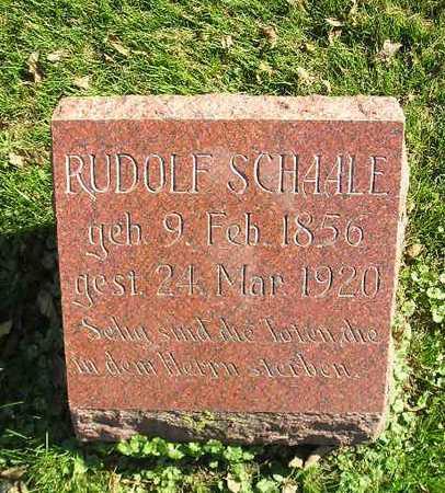SCHAALE, RUDOLF - Bremer County, Iowa   RUDOLF SCHAALE
