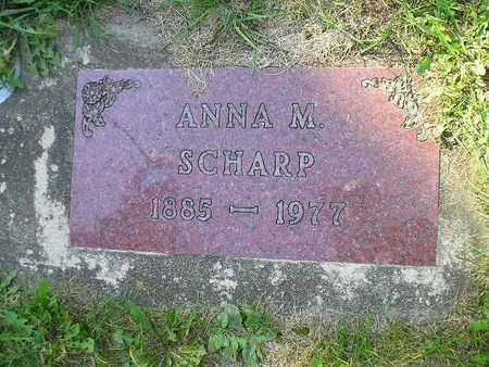SCHARP, ANNA M - Bremer County, Iowa   ANNA M SCHARP