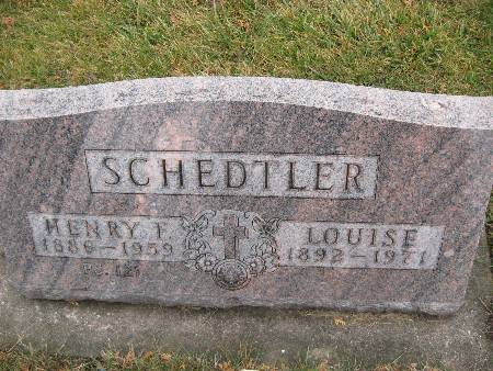 SCHEDTLER, LOUISE - Bremer County, Iowa   LOUISE SCHEDTLER
