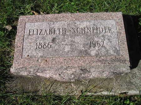 SCHNEIDER, ELIZABETH - Bremer County, Iowa | ELIZABETH SCHNEIDER