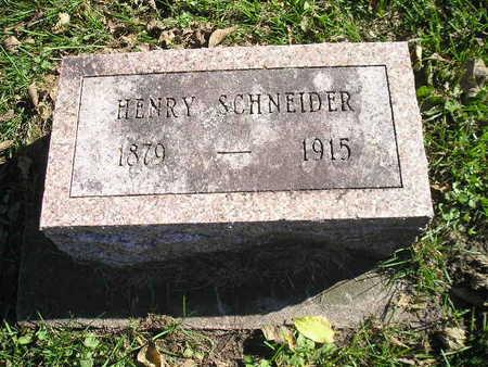 SCHNEIDER, HENRY - Bremer County, Iowa | HENRY SCHNEIDER