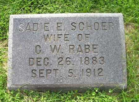 SCHOER, SADIE E. - Bremer County, Iowa   SADIE E. SCHOER