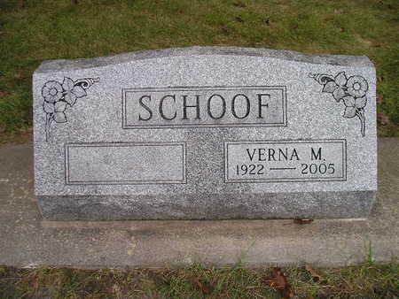 SCHOOF, VERNA M - Bremer County, Iowa   VERNA M SCHOOF