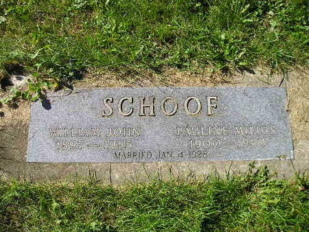 SCHOOF, WILLIAM JOHN - Bremer County, Iowa | WILLIAM JOHN SCHOOF