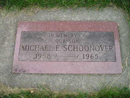 SCHOONOVER, MICHAEL E - Bremer County, Iowa   MICHAEL E SCHOONOVER
