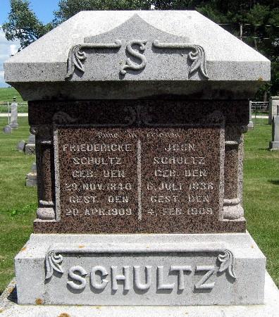 SCHULTZ, JOHN - Bremer County, Iowa   JOHN SCHULTZ