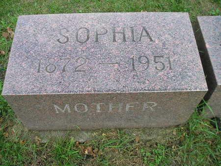 SCHULTZ, SOPHIA - Bremer County, Iowa   SOPHIA SCHULTZ