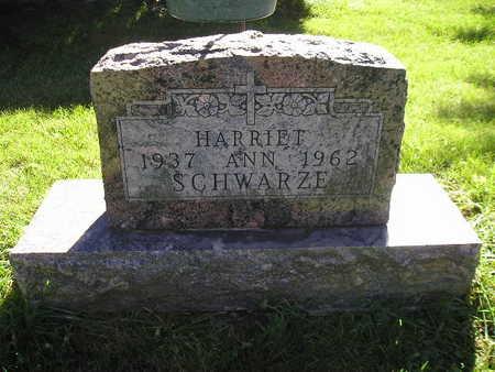 SCHWARZE, HARRIET ANN - Bremer County, Iowa | HARRIET ANN SCHWARZE