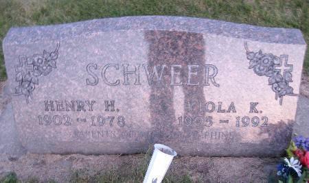 SCHWEER, HENRY H - Bremer County, Iowa   HENRY H SCHWEER