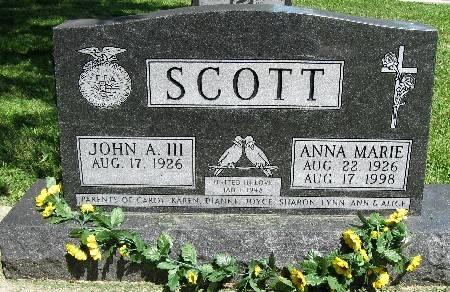 SCOTT, ANNA MARIE - Bremer County, Iowa | ANNA MARIE SCOTT