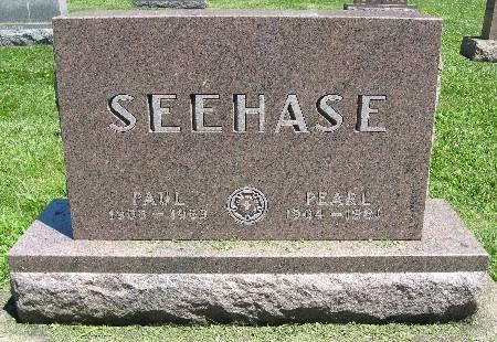 SEEHASE, PEARL - Bremer County, Iowa   PEARL SEEHASE
