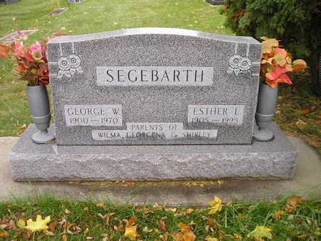 SEGEBARTH, ESTHER L - Bremer County, Iowa | ESTHER L SEGEBARTH