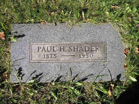 SHADER, PAUL H - Bremer County, Iowa | PAUL H SHADER