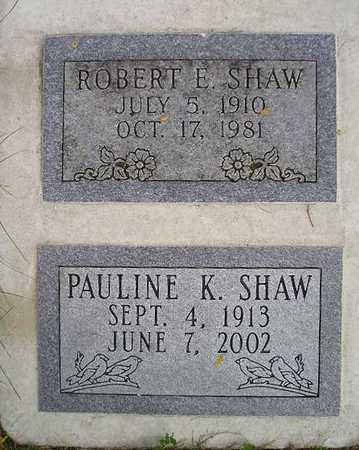SHAW, ROBERT E - Bremer County, Iowa | ROBERT E SHAW