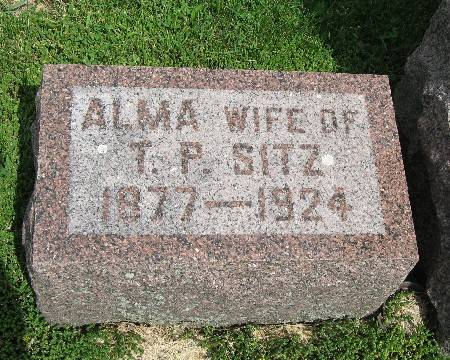 SITZ, ALMA - Bremer County, Iowa   ALMA SITZ