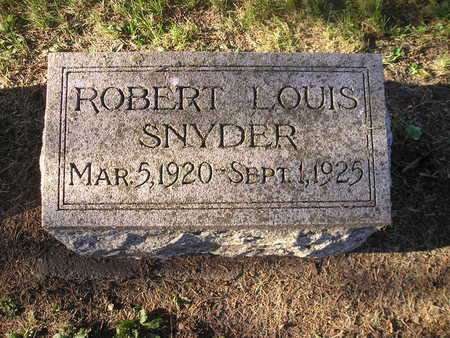 SNYDER, ROBERT LOUIS - Bremer County, Iowa | ROBERT LOUIS SNYDER