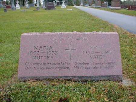 SPOHR, MARIA - Bremer County, Iowa | MARIA SPOHR