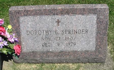 SPRINGER, DOROTHY B. - Bremer County, Iowa   DOROTHY B. SPRINGER