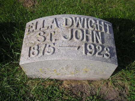 DWIGHT ST JOHN, ELLA - Bremer County, Iowa | ELLA DWIGHT ST JOHN